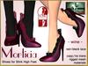 Bliensen + MaiTai - Morticia - Shoes for Slink High Feet - Wine