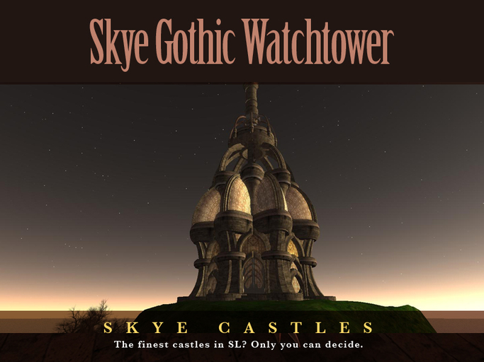Skye Gothic Castle Watchtower - Part of Skye Gothic Castle Range, Prefab