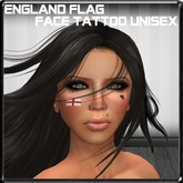 *~LT~* England Flag Face Tattoo Unisex BOM