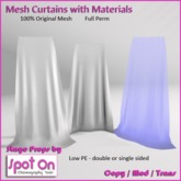 Spot On Mesh Curtains with Materials - FULL PERMS