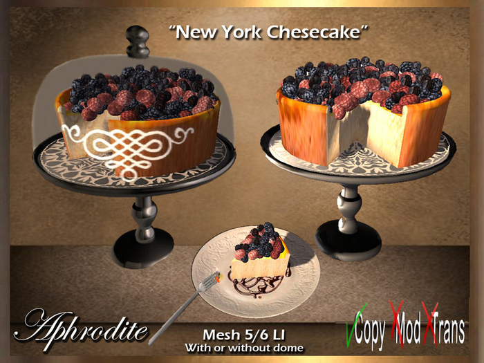 Aphrodite New York cheesecake! With or withour dome