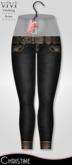 { ViVi } Christine - Belted Denim Jeans - Black