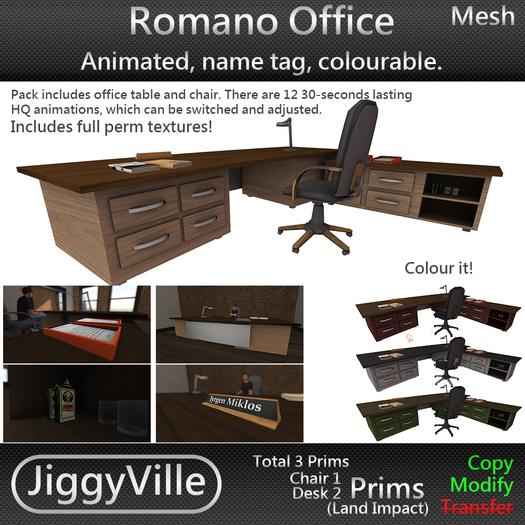 Romano Office - Mesh - 3 Prims