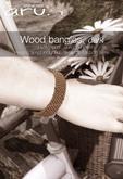 aru. Wood bangles (Dark version)