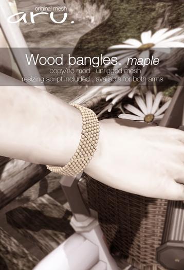 aru. Wood bangles (Maple version)