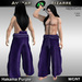 AB Hakama Pants Purple