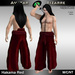 AB Hakama Pants Red