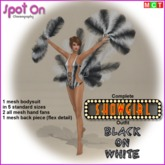 Spot On SHOWGIRL Outfit - Black on White - (boxed)