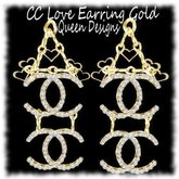 CC Love Earrings Gold