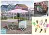 {what next) Sandbridge Ice Cream Cart  - Pink & Green