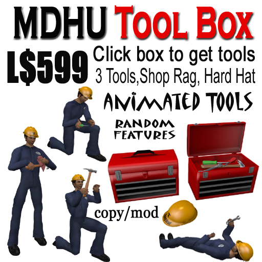MDHU Tool Box - with animations