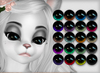 Kemono reflective eyes   20 colors