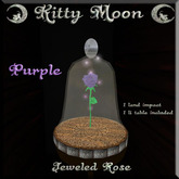 Retired KM Z Jeweled Rose Purple
