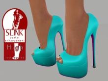 Ixone Peep Toe Platform Multicolor Heels for Slink High Feet