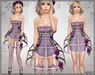 [Wishbox] Cage Dress (Lilac) - Exposed Cage Bodycon Dress and Fantasy Lingerie with Roses