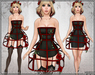 [Wishbox] Cage Dress (Black) - Exposed Cage Bodycon Dress and Fantasy Lingerie with Roses
