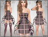 [Wishbox] Cage Dress (Timeless) - Mesh Exposed Cage Bodycon Dress and Fantasy Lingerie with Roses
