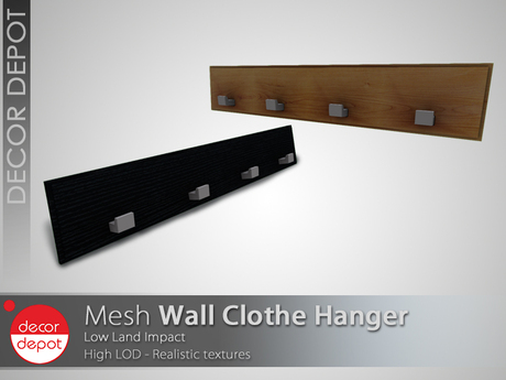 [DD] - FULL PERM  Wall Clothe Hanger