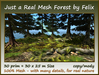 Just a real mesh forest 30 prim 30x25m size copy mody