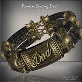 Remembering Dad Men's Bracelet by Chop Zuey Couture Jewellery