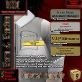 KDC Universal Nameplate