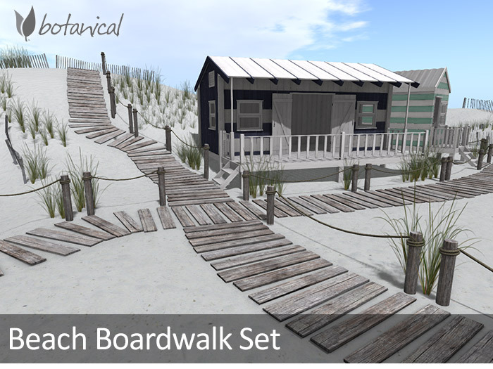 Botanical Beach Boardwalk Set