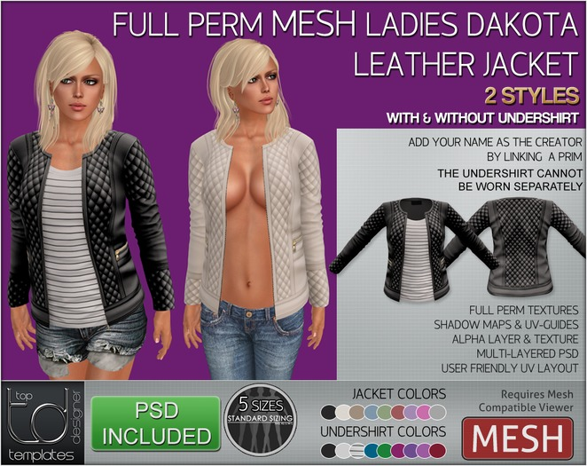 -TD- TEMPLATES - Ladies MESH Paradise Bikini Set- FULL PERMS