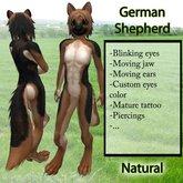 Furry German Shepherd - Natural
