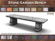 Riders - Stone Garden Bench