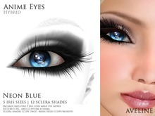 AVELINE Anime [Hybrid Eyes] - Neon Blue