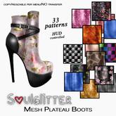 *Soulglitter* Plateau Boots - 33 textures