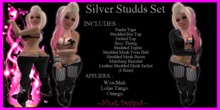 ~ND~ Silver Studds Set