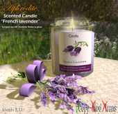 """Aphrodite scented candle """"French lavender"""""""