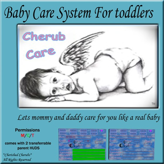 *CC* Cherub Care Baby Care System For Toddlers