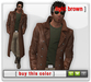 Mesh Leather Trenchcoat - Light Brown