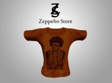 - Shirt - Skull Rock Orange - Zeppelin Store -