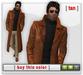 Mesh Leather Trenchcoat - Tan