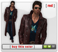 Mesh Leather Trenchcoat - Red