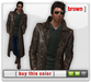 Mesh Leather Trenchcoat - Brown