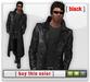 Mesh leather trenchcoat   black
