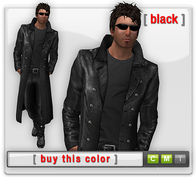Mesh Leather Trenchcoat - Black