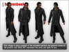 Mesh leather trenchcoat   views 01