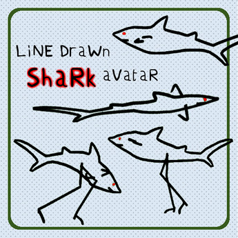 LiNe DraWn: Shark & Landshark
