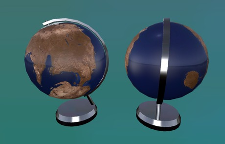 "0.5-1-2 prim full perm ""Table Globe"" sculpt map and mesh"