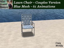 [WHD] -- Lawn Chair - Blue Mesh - Couples Version - 61 animations