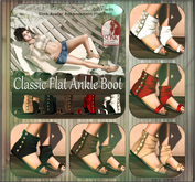 NS::  Classic Flat Ankle Boot (mesh)