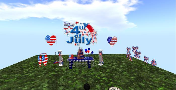 4th of July Party in a box 20 pc (boxed) with party favor givers