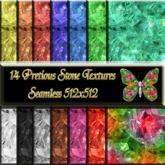 14 Jewel Pretious Stone Textures Seamless 512x512