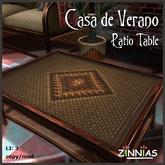 Zinnias Casa de Verano Patio Table
