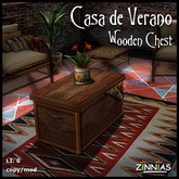 Zinnias Casa de Verano Wooden Chest
